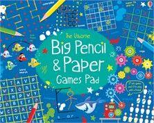 Usborne Big Pencil & Paper Games Pad