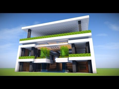 Big Survival Modern Apartment Base Minecraft Tutorial