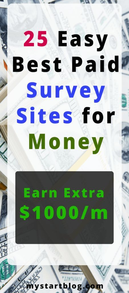 25 Easy, Best Paid Survey Sites for Money (online …