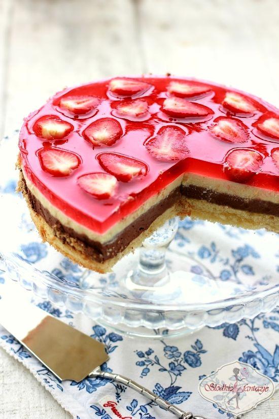 Sernik czekoladowo-waniliowy na zimno / No-bake chocolate-vanilla cheesecake