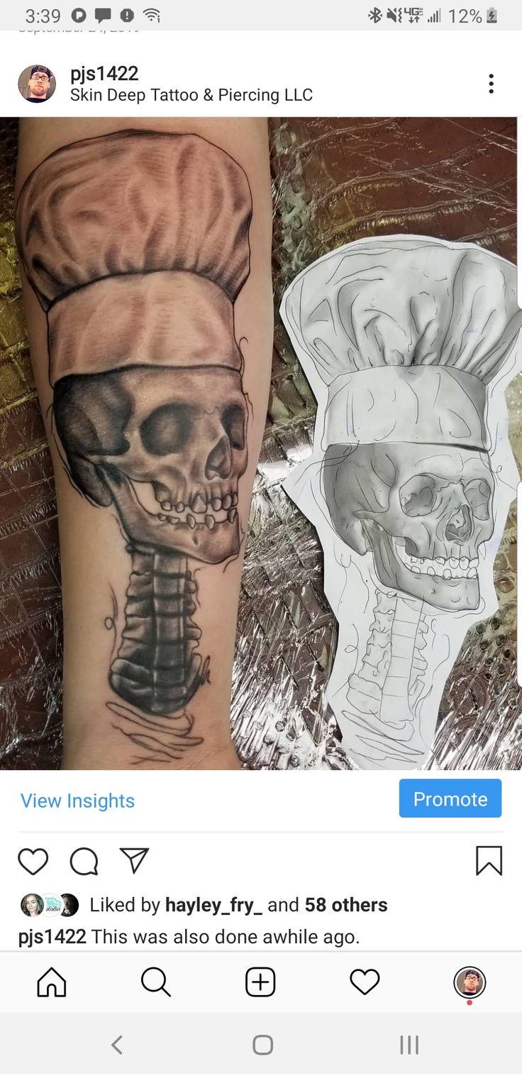 skull chef tattoos ink tattoo in 2020 Deep tattoo