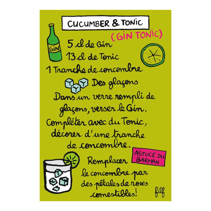 Aimant gin tonic - DLP - Filf