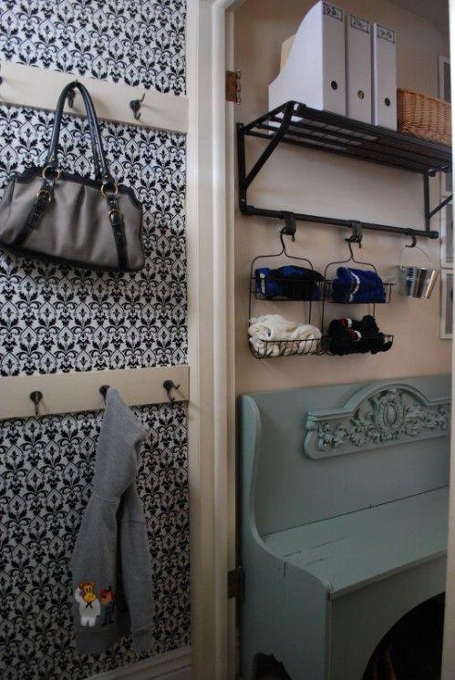 Doccia Doccia Rack Mud Room Organizing - 150 Dollar Store Organizza Idee e Progetti per l'Intera Casa