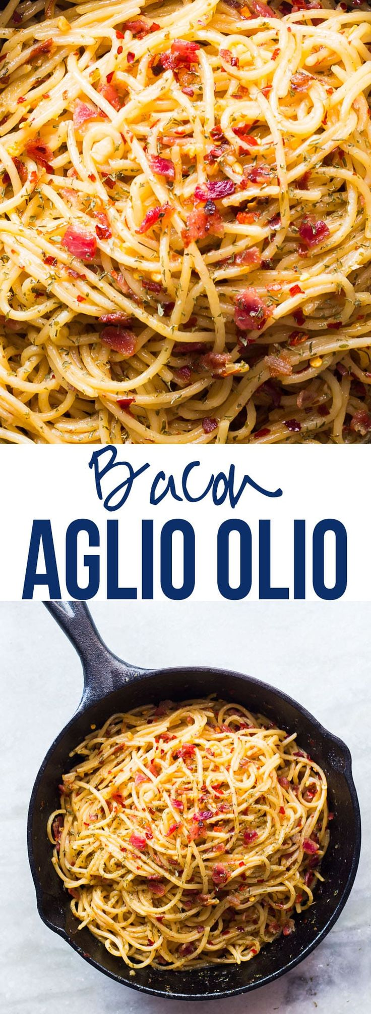 5 Ingredient Bacon Spaghetti Aglio Olio Easy Bacon Recipesquick