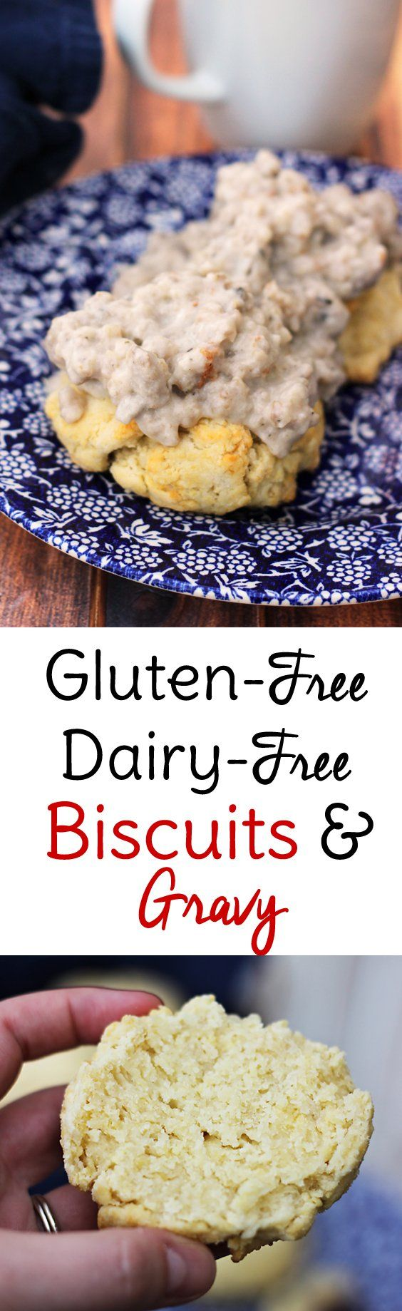 Gluten and Dairy free biscuits and gravy! (Cashew milk) Both the biscuits and the sausage breakfast gravy are free of dairy and gluten and taste as great as the originals!