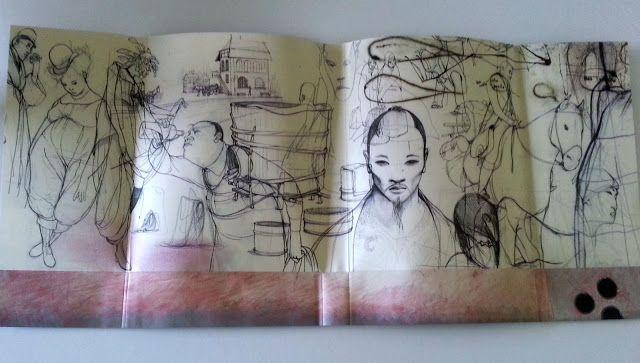 Sobrecubierta-poster de Seda de Alessandro Baricco. Ilustrado por Rébecca Dautremer.