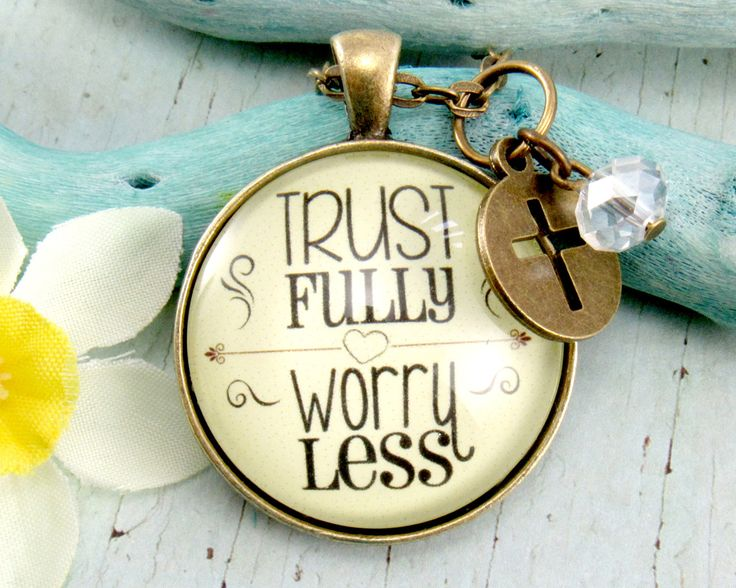 My newest creation makes a great #giftidea Trust Fully Worry Less Vintage Pendant Necklace For Women Do Not Worry Bible Verse Scripture Jewelry be Happy Pray More Worry Less (18.00 USD) from GutsyGoodness