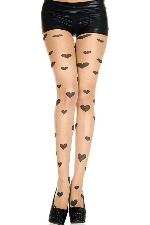 #MusicLegs #StaySexy https://www.fifty-6.com/…/music-l…/hosiery/sheer-pantyhose-2 Cod.: ml7399 Sheer pantyhose Sheer hearts spandex tights Color: Beige/Black Sizes: One Size Material:88% nylon, 12% spandex