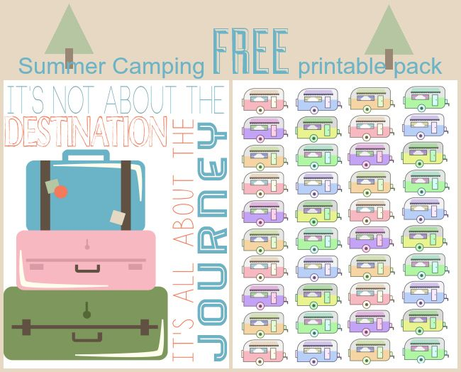 Adorable vintage camper free printable set! How adorable are these?