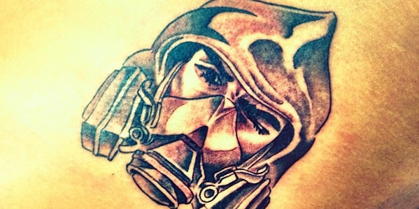"Chris Brown's ""bandit"" chest tattoo  http://www.popstartats.com/chris-brown-tattoos/cb-buzz/new-tat-the-bandit/"