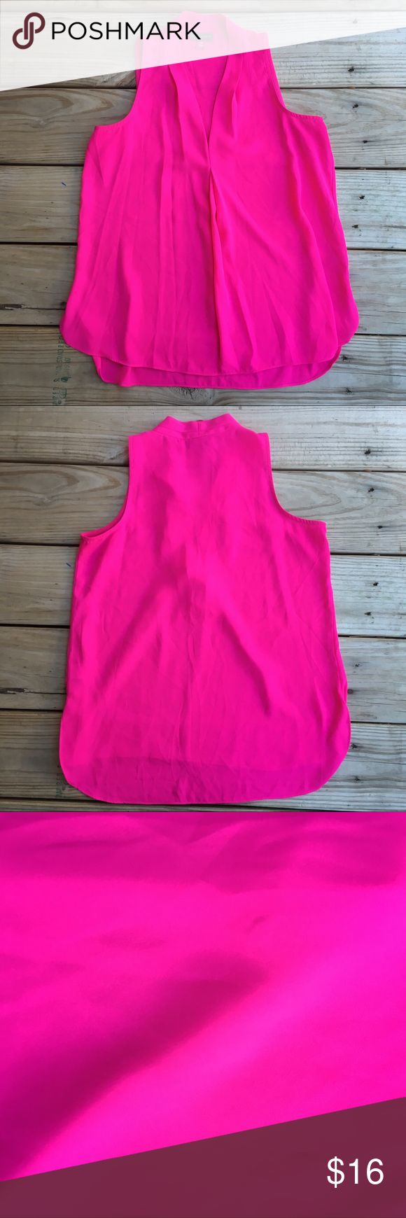 Vince Camuto Hot Pink Blouse Vince Camuto Hot Pink Blouse. Size PXS. No rips or stains Vince Camuto Tops Blouses