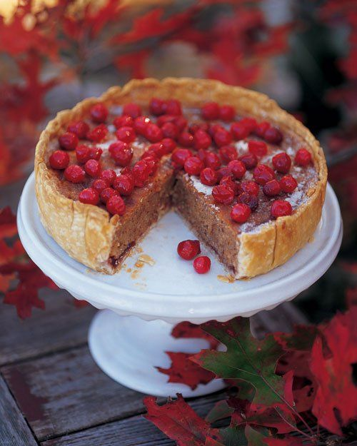 Cranberry, Almond, and Cinnamon Tart.