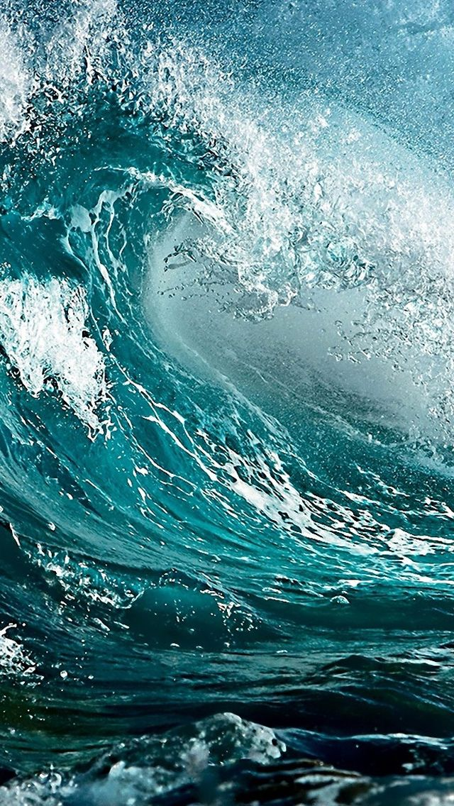 An amazing image of a powerful wave, that well represents strength.