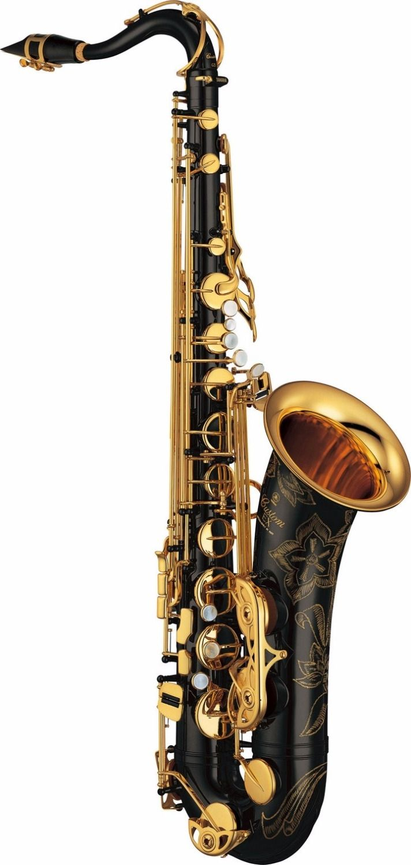 779.00$  Buy here - http://ali4j7.worldwells.pw/go.php?t=32753977697 - YAS-875 exb Carved Flower Black Nickel Gold Simulation Saxophone Tenor Sax Bb Matt saxophone Gold Key Brass instrument 779.00$