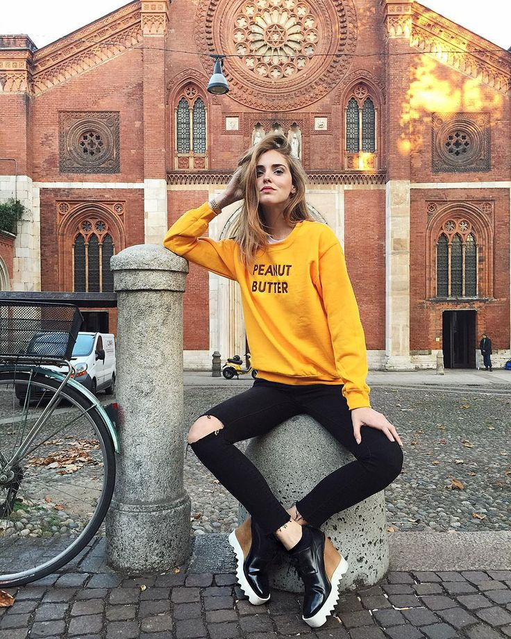 """Perfect Autumn days and my Peanut Butter sweater @rad #radshop #essential1 #ItalianDays"""
