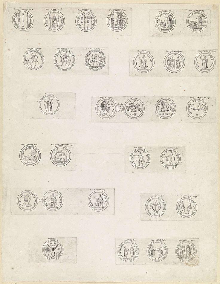 Theodoor van Thulden | Dertig Romeinse munten met deviezen en emblemen van keizers, Theodoor van Thulden, 1642 |