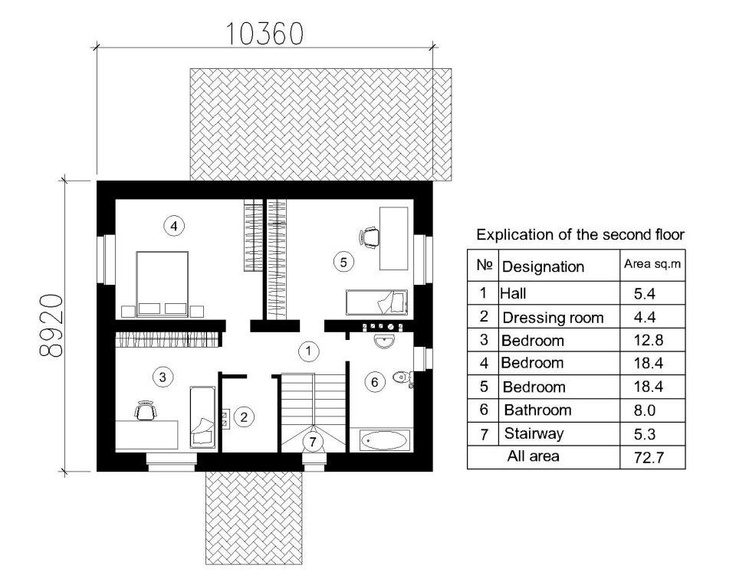 House Plan Nina 2 141 Sq M The Second Floor Three