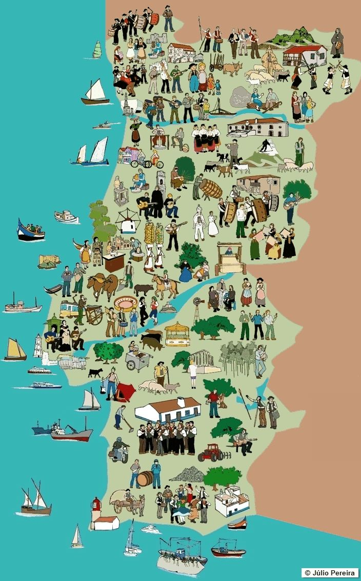 Ethno-musical map of Portugal by Júlio Pereira  #map #portugal #music