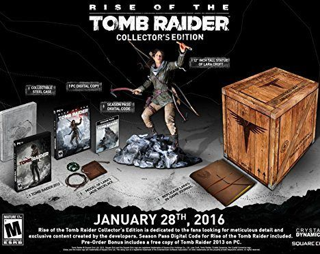 rise of the tomb raider collector s edition pc digital code bundle deals