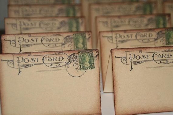 Hey, I found this really awesome Etsy listing at https://www.etsy.com/listing/174626367/100-wedding-place-cards-vintage-post