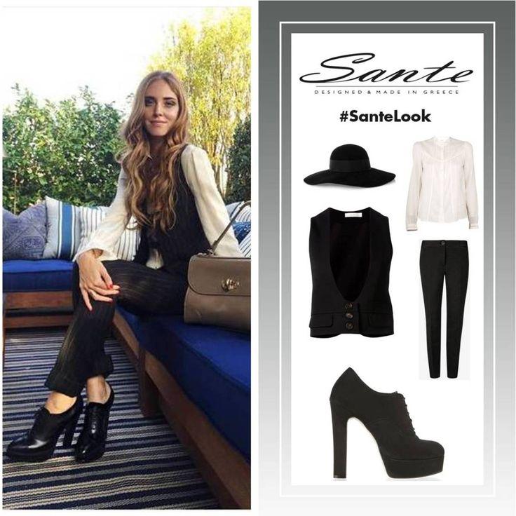 Do it like Chiara! #SanteLook #BuyWearEnjoy #SanteMadeinGreece Shop NOW: www.santeshoes.com