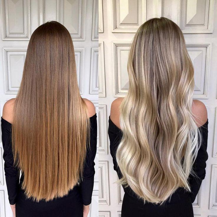 Que tal este antes e depois por @glayda?!? Para alcançar este resultado ela contou com #8XPowderTRUSS para proteger e #AirLibreTRUSS para as … | Look's | Pinterest | Hair, Balayage and Balayage hair