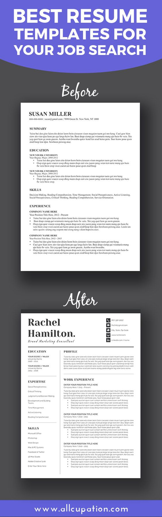 cv and resume format%0A Best resume templates for your job search  Visit www allcupation com for  more  Best Resume TemplateCv