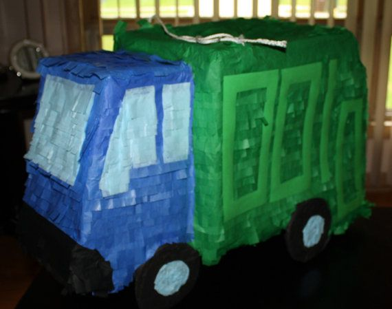 Garbage Truck Pi 241 Ata By Pinataqueen On Etsy 49 00