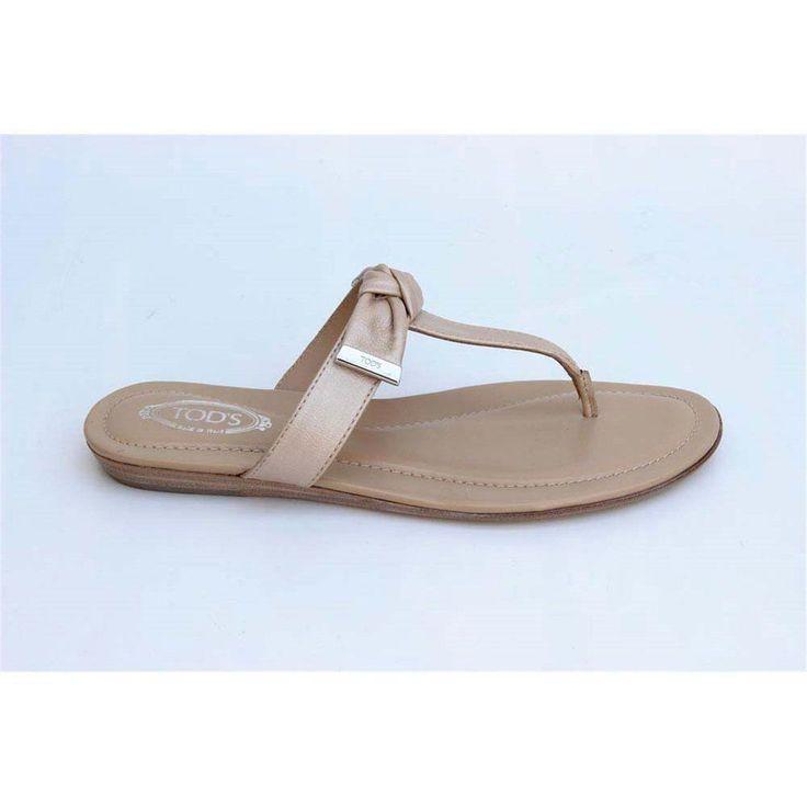 Beige 36 EUR - 6 US (241mm) Tods ladies flat sandal XXW0II0A120PJ0C210