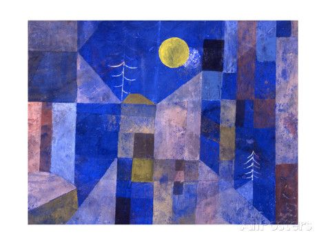 Moonshine, 1919 reproduction procédé giclée par Paul Klee sur AllPosters.fr