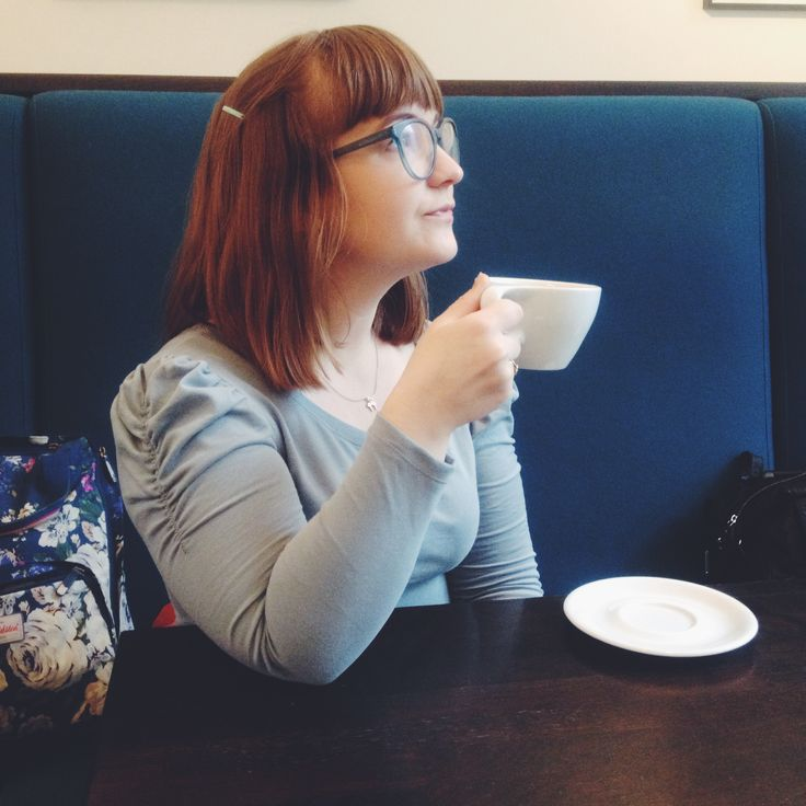 Day 3: Complementing the interior of my morning coffee. Agnes top from Tilly and The Buttons in a dusty blue jersey knit from Stoff&Stil. I love this top and its variations. Me and knits haven't always been friends, but we are getting there. #mmmay16 #sewingagnes #tillyandthebuttons.