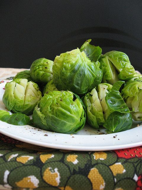 simple Steamed Brussel Sprouts