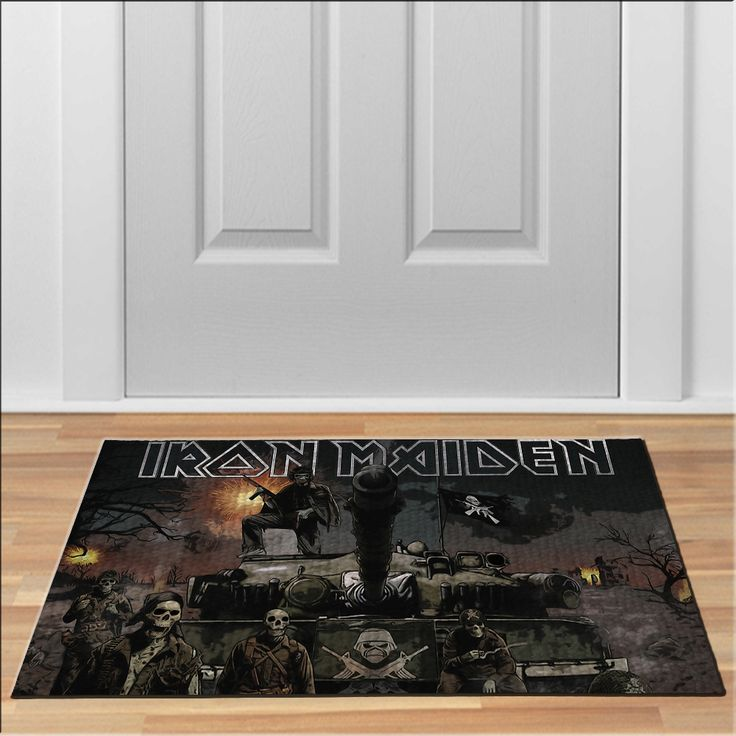 cool iron maiden the trooper Doormat Rock Heavy Metal Band Floor Durable Non-Slip