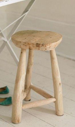 Driftwood stool...how cool!