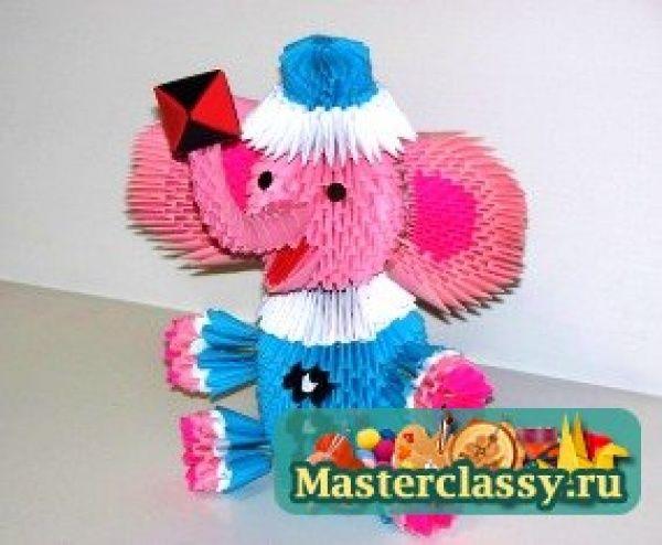 Модульное оригами. Слон. Мастер-класс с пошаговыми фото