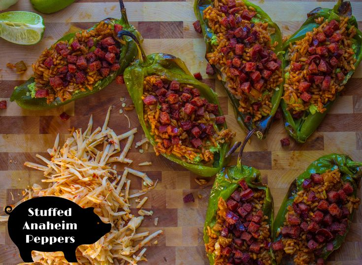 Stuffed Anaheim Peppers