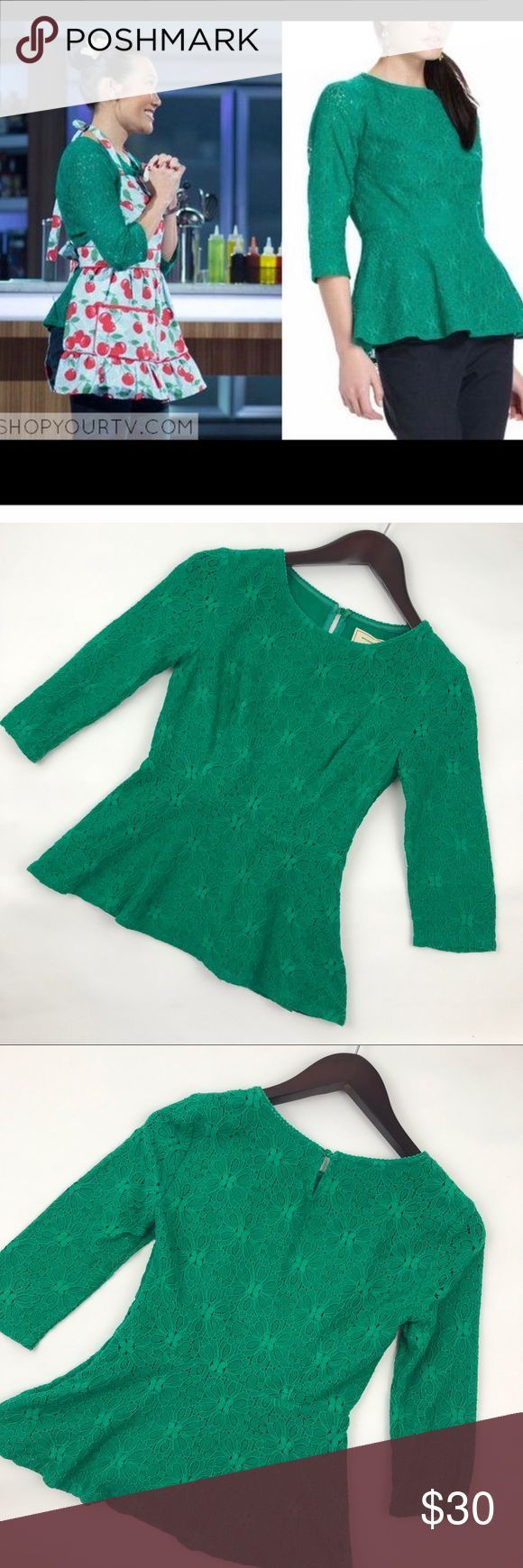 Anthropology Moulinette Sisters green lace top Gorgeous Anthropologie Moulinette …