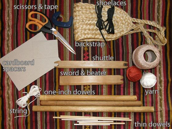 how to make a backstrap weaving loom and use it!