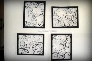 DIY: Toilet paper roll wall art .. never thought and as much toilet paper we go through in this house !