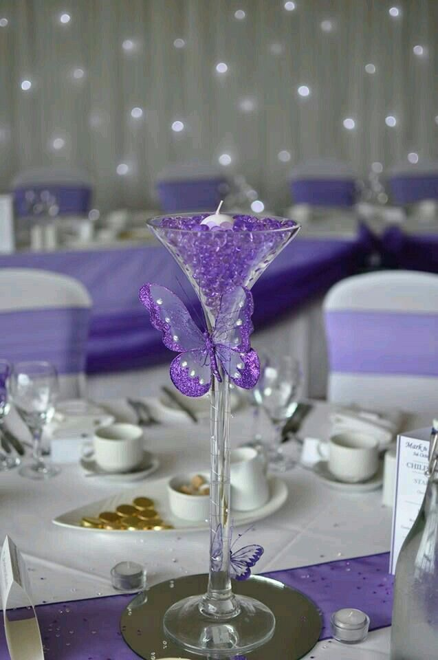Centre Pieces For Tables Simple Easy To Mix It Up Water Beads In Blue Orange Clear Floating