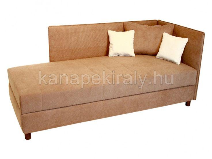 Twist kárpitozott, ágyneműtartós, relax zónás heverő, 90x200, jobbos