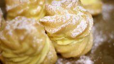 Brandteigkrapfen mit Vanillecreme