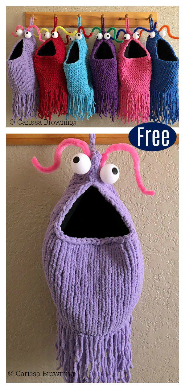 Yip Yips Cestas De Suspensão Livre De Tricô E Crochet Padrão