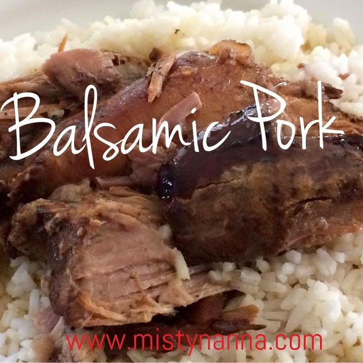 Fit for Life: Crock Pot Balsamic Pork Roast