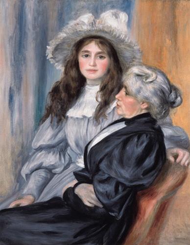 Portrait de Julie Manet et Berthe Morisot -1894 - par Pierre Auguste Renoir                                                                                                                                                                                 Plus