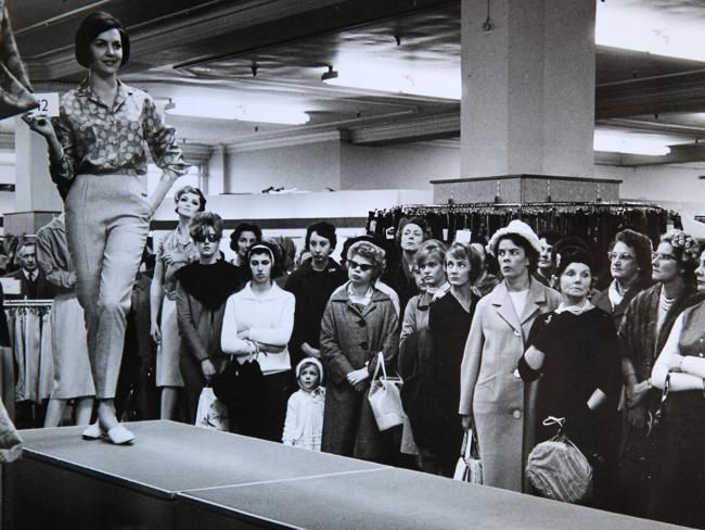 Fashion Parade at David Jones: Salvager Dale Egan discovered these iconic Sydney photographs - taken by Beverley and Ken Clifford - in a box destined for the rubbish tip in 1991. Source: News Limited
