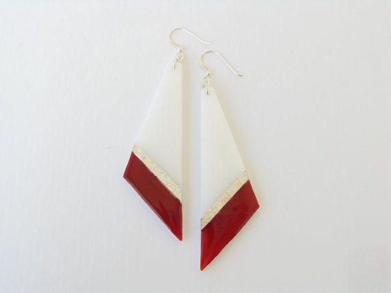 Christmas SaleRed Geometric EarringsGeometric by SotiriaVasileiou
