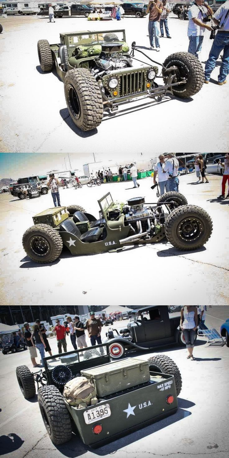 Rat Rod Flat Fender Jeep - Very Cool!