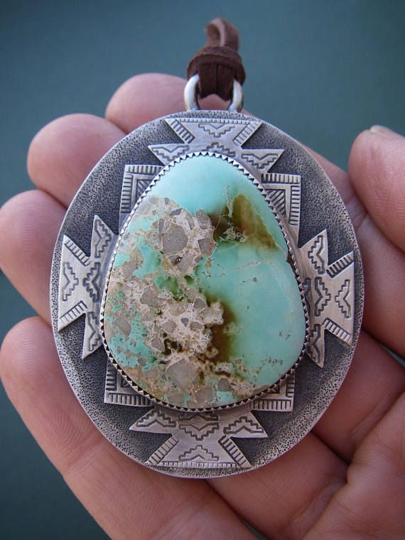 Pilot Mountain Turquoise Necklace with Wampum Shell