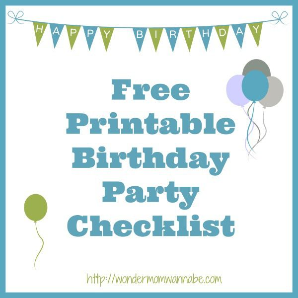 Free Printable Birthday Party Checklist to help you keep track of all the details from the guest list to the menu and decorations.